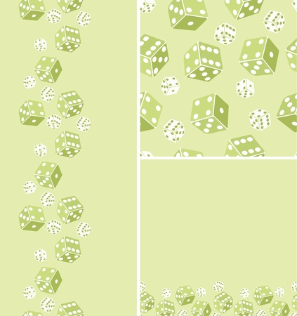 Set of three dice seamless pattern background Stock Vector - 17231343