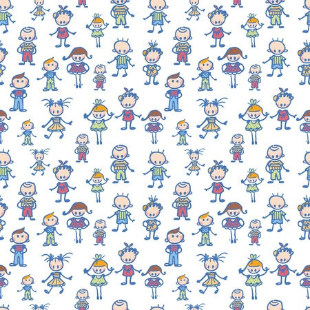 Playing children seamless pattern background Vector