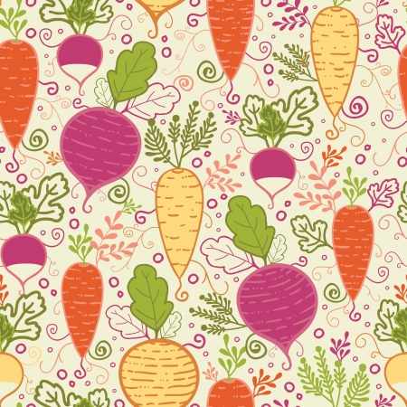 Root vegetables seamless pattern background Stock Vector - 17319101