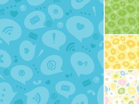 Internet message symbols seamless pattern background Vector