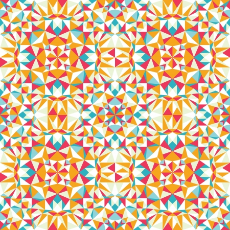 Colorful triangle texture seamless pattern background Vector