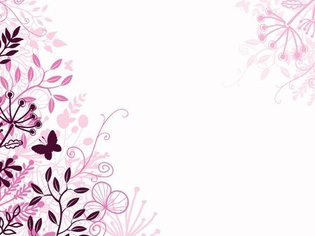 핑크와 블랙 꽃 배경 배경막