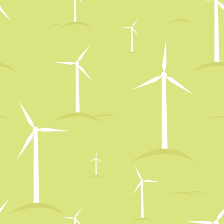 wind mills: Ecological modern windmills seamless pattern background