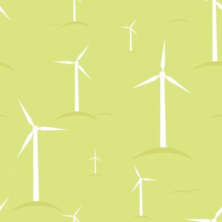 Ecological modern windmills seamless pattern background Stock Vector - 17379733