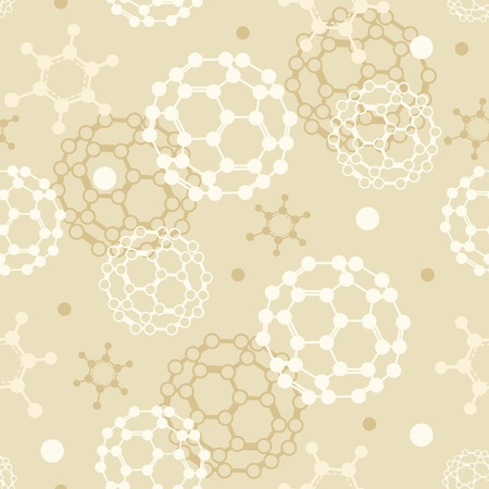Molecules seamless pattern background Stock Vector - 17379737