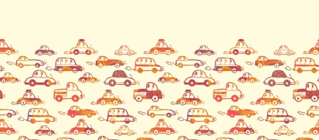 Vibrant cars horizontal seamless pattern background border Stock Vector - 17379753