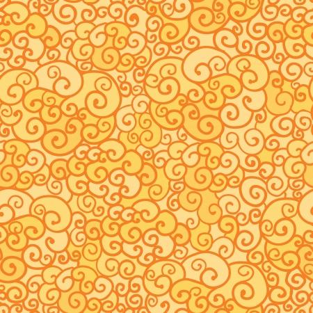 absract: Oro absract fuoco Swirls senza soluzione di fondo del modello Vettoriali