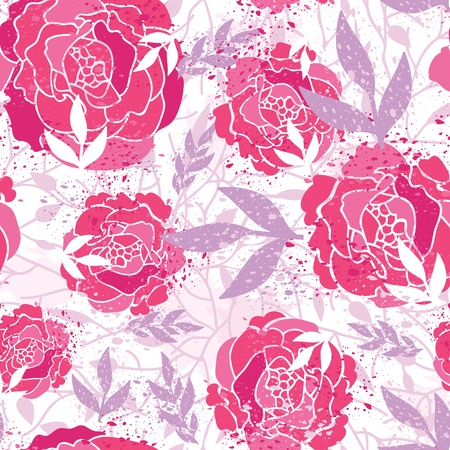 Magical painted roses seamless pattern background Vector