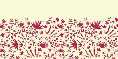 塗装の抽象花柄水平シームレス パターン背景