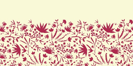 Painted abstract florals horizontal seamless pattern background Stock Vector - 17428713