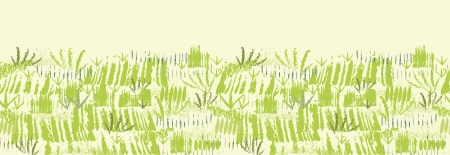 Painting of green grass horizontal seamless pattern background Stock Vector - 17428722