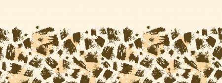 動物のブラシ ストローク水平シームレス パターン背景  イラスト・ベクター素材