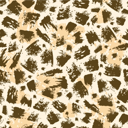 Animal brush stroke seamless pattern background Vector