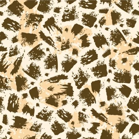 brush stroke: Animal brush stroke seamless pattern background Illustration