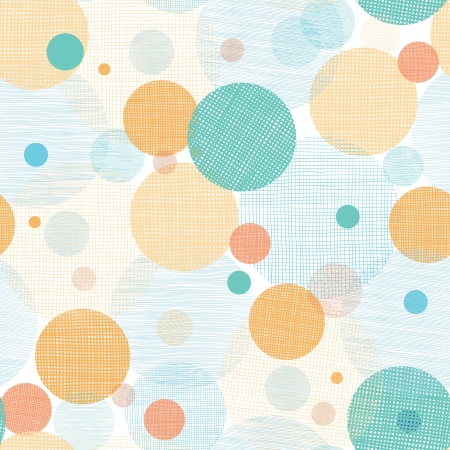 Fabric circles abstract seamless pattern background Ilustração