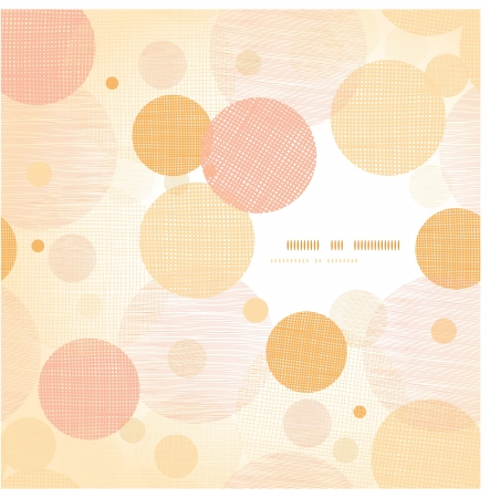 Fabric circles abstract frame pattern background