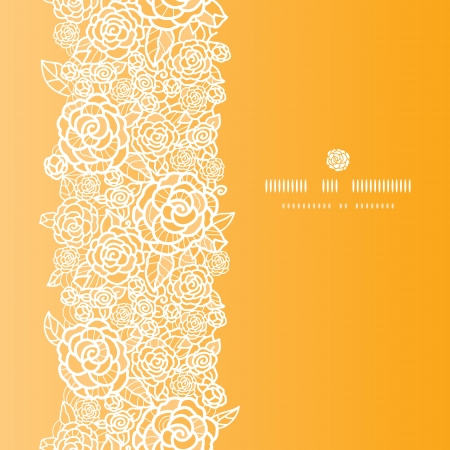 Golden lace roses vertical seamless pattern background Vector
