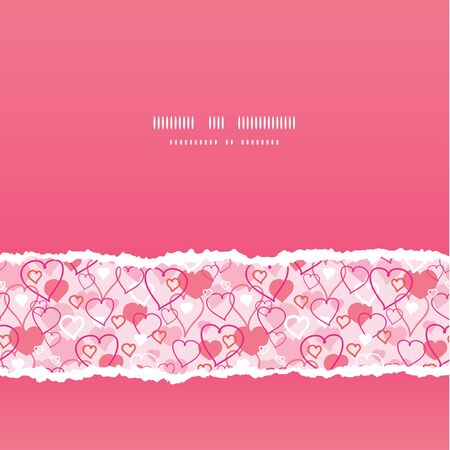 Valentine s Day hearts card seamless pattern background Stock Vector - 17497562