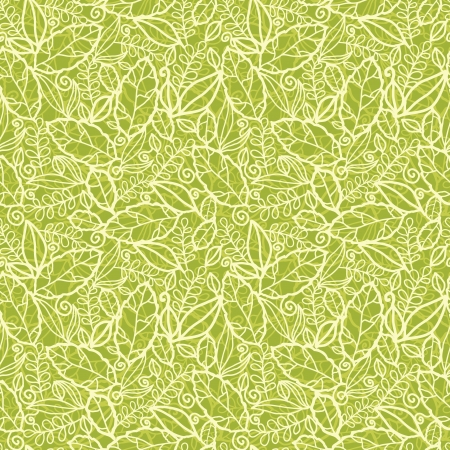 Green lace leaves seamless pattern background Stock Vector - 17497564