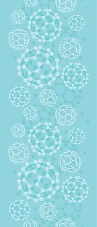 Buckyballs vertical seamless pattern background border Vector