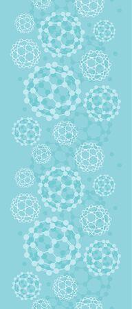 nanoparticle: Buckyballs vertical seamless pattern background border Illustration