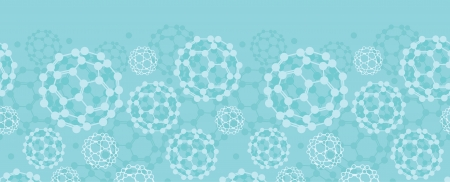 Buckyballs horizontal seamless pattern background border Vector