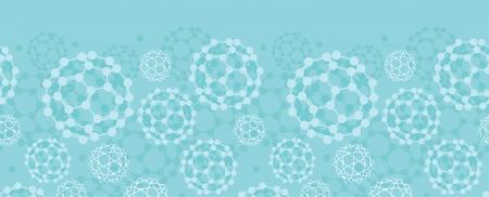 Buckyballs horizontal seamless pattern background border Stock Vector - 17497571