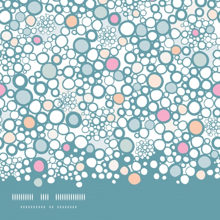 Colorful bubbles horizontal seamless pattern background