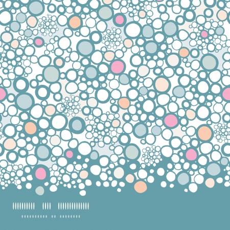 Kleurrijke bubbels horizontaal naadloze patroon achtergrond