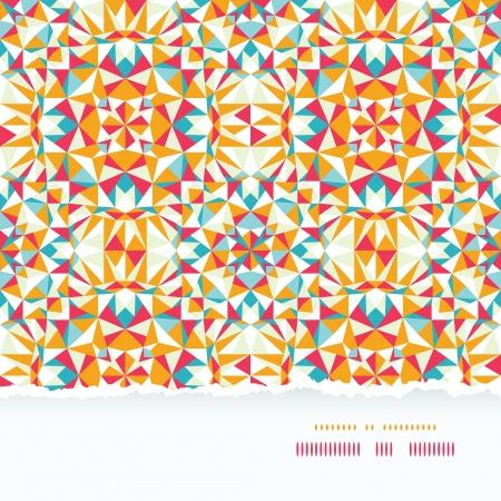 다채로운 삼각형 찢어진 된 종이 테두리 원활한 패턴 배경