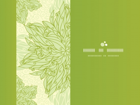 horizontal: Abstract floral swirls horizontal seamless pattern background