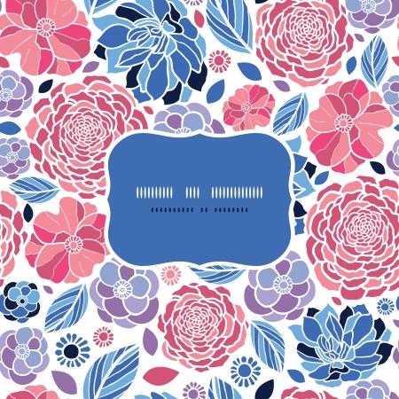 夏の花フレームのシームレスなパターン背景  イラスト・ベクター素材