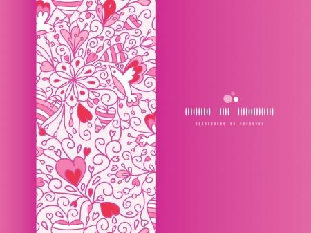 horizontal: Love garden horizontal pattern background