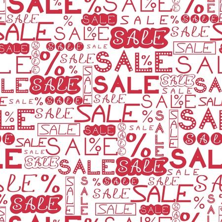 christmas promotion: Sale seamless pattern background