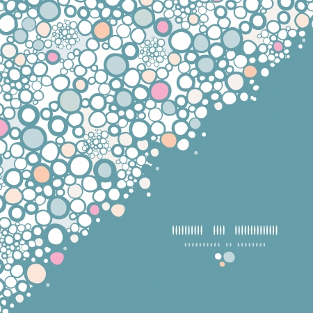 Colorful bubbles corner seamless pattern background Stock Vector - 17590949
