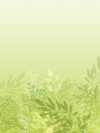 Fresh glowing spring plants vertical background Stock Vector - 17590966