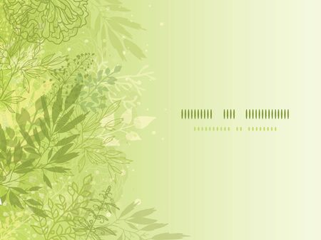 Fresh glowing spring plants horizontal background Stock Vector - 17590965