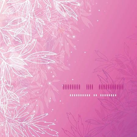Glowing pink tree branches square template background Stock Vector - 17590979
