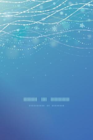 Magische onderwaterwereld bubbels verticale template achtergrond Stock Illustratie