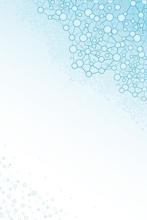 Estructura molecular fondo vertical científica