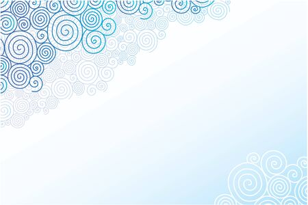 Doodle swirl clouds horizontal background Stock Vector - 17590989