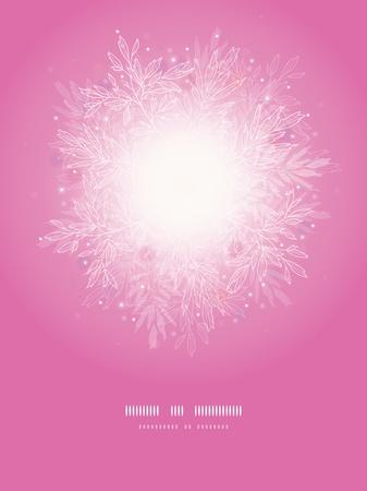 Pink branches sunburst vertical template background