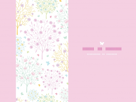 Blossoming trees horizontal card seamless background Stock Vector - 17702981