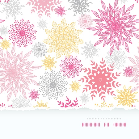 Abstract floral vignettes torn frame seamless background Stock Vector - 17835720