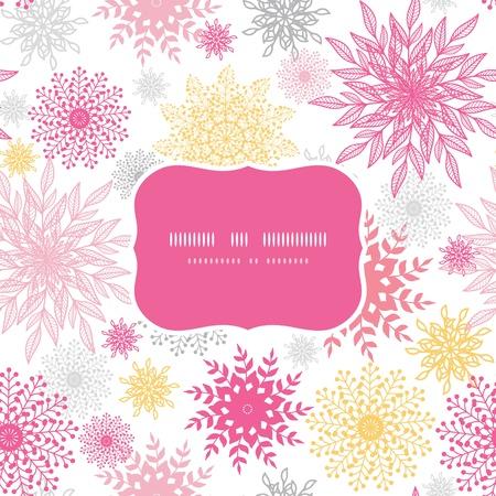 Abstract floral vignettes frame seamless pattern background Illustration