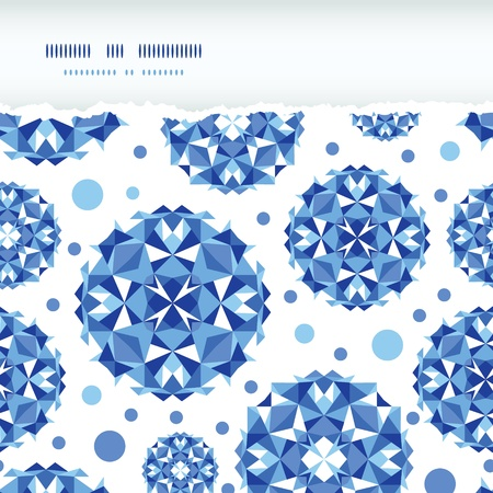 Blue abstract circles square seamless pattern background Vector