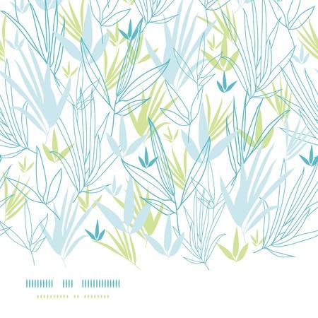 파란색 대나무 가로 원활한 배경 분기 스톡 콘텐츠 - 17835733