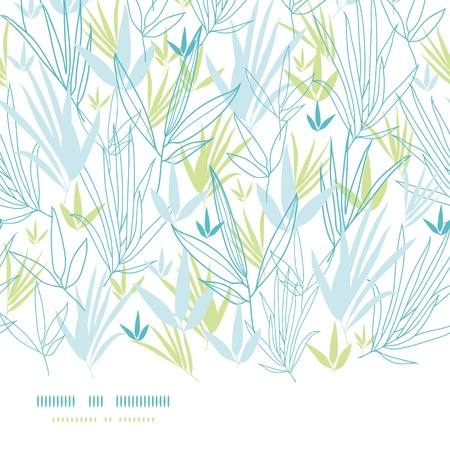Blue bamboo branches horizontal seamless background