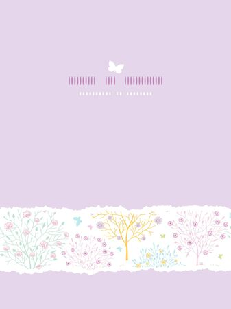Blossoming trees vertical card seamless background Stock Vector - 17835739