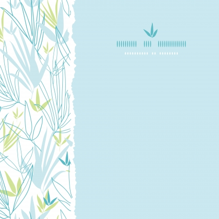 Blue bamboo branches square seamless background Vector